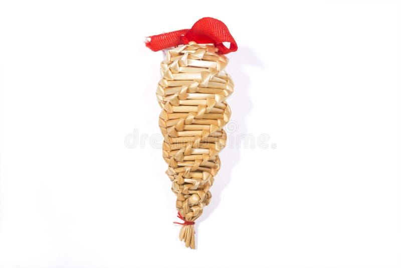 Straw Christmas Decoration images libres de droits