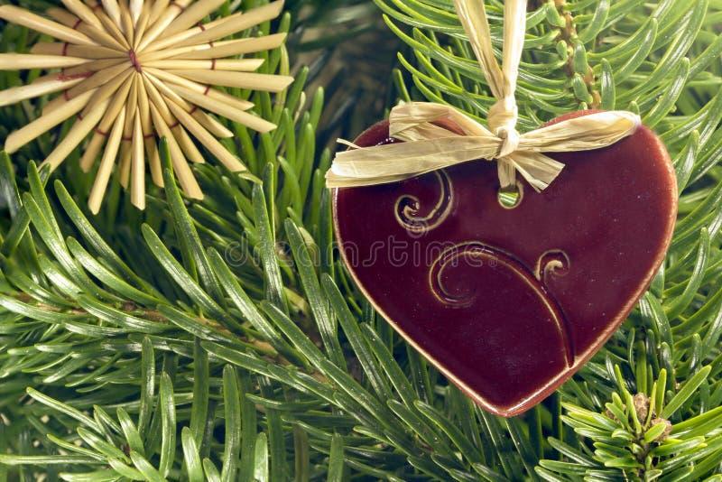 Straw Christmas-Verzierungen lizenzfreie stockbilder