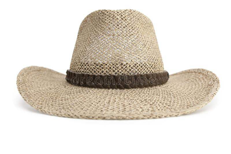 Straw Cowboy hat isolated on white