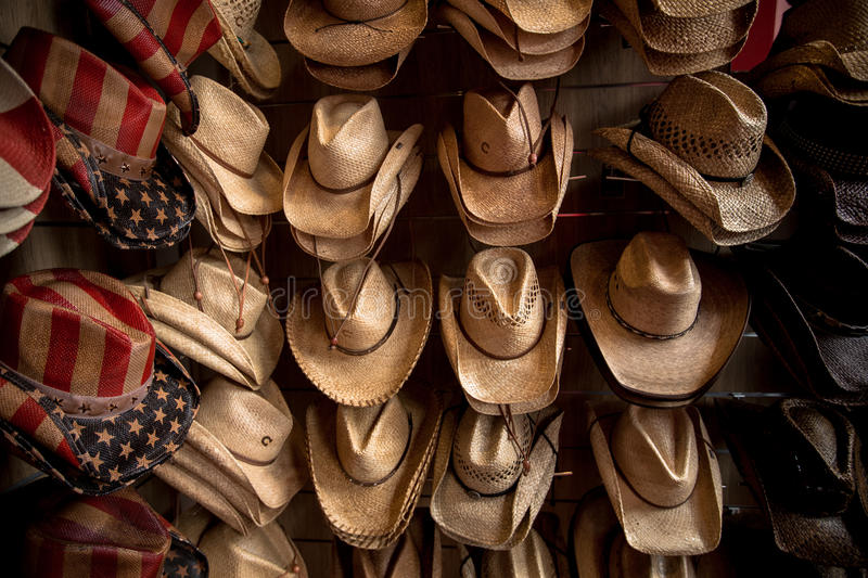 Straw cowboy hats stock images