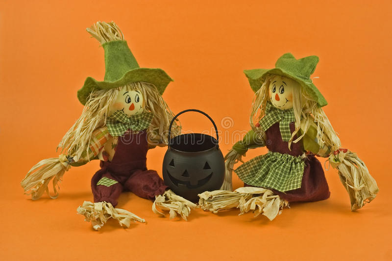 Straw dolls royalty free stock image