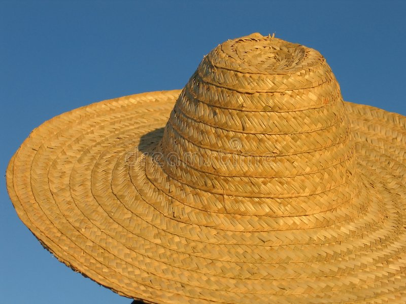 Download Straw hat stock image. Image of straw, cover, round, head - 113295