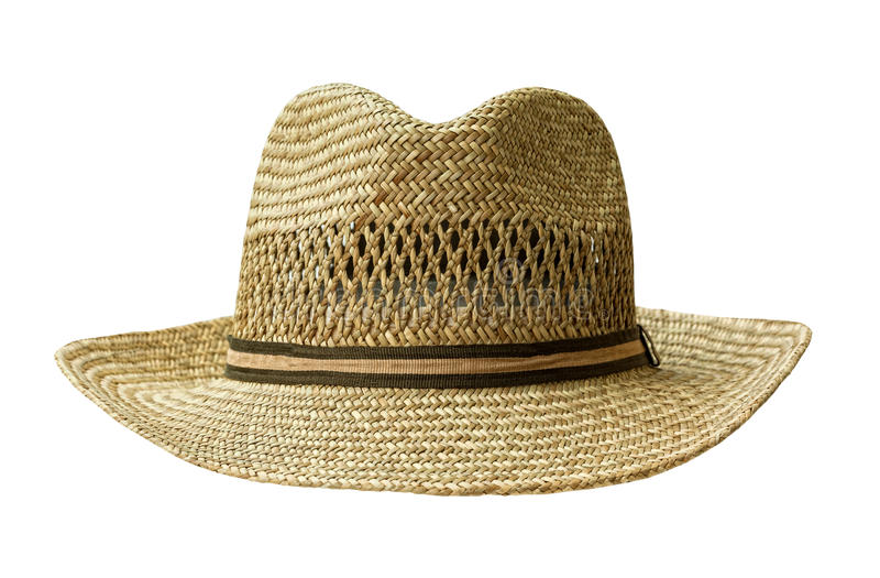 Straw hat cut out on white stock photo. Image of shot - 33984534