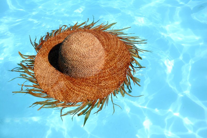 Straw Hat Floating stock images
