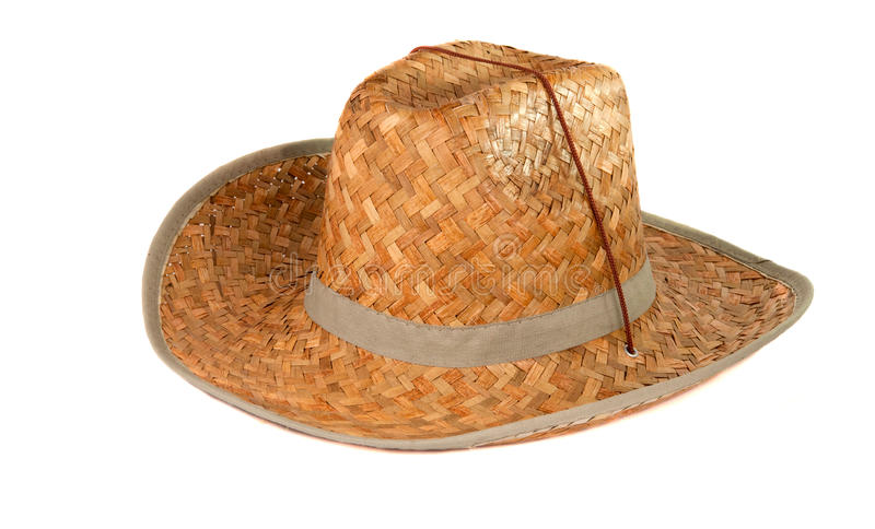 Download Straw hat isolated stock image. Image of party, brown - 25887745