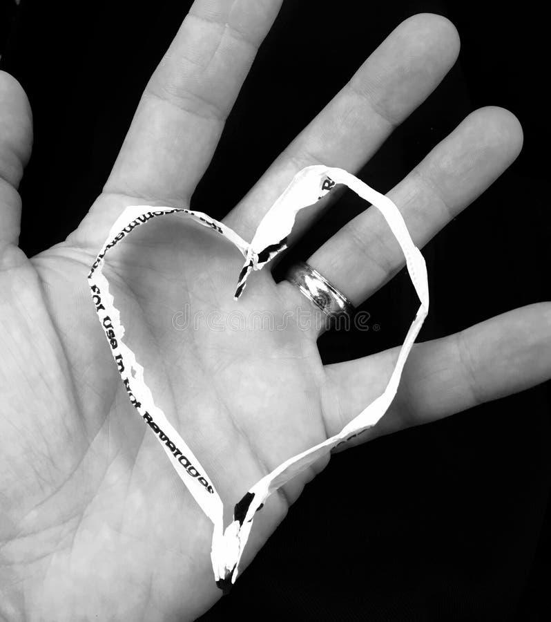 Straw Heart imagem de stock