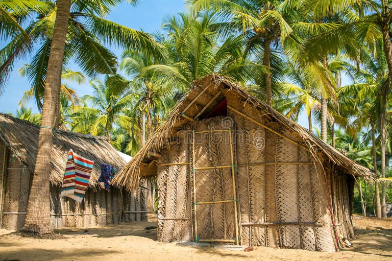 Download Straw Hut On Paradise Beach In Goa Stock Photo - Image: 30942924