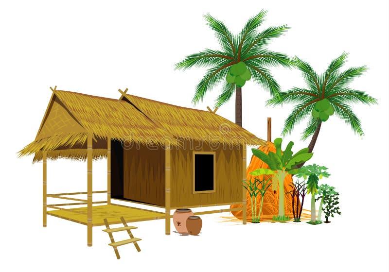 Straw hut. Design vector illustration