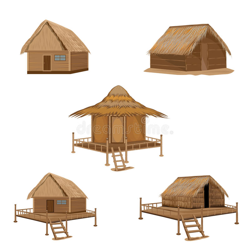Straw hut. The straw hut vector design vector illustration