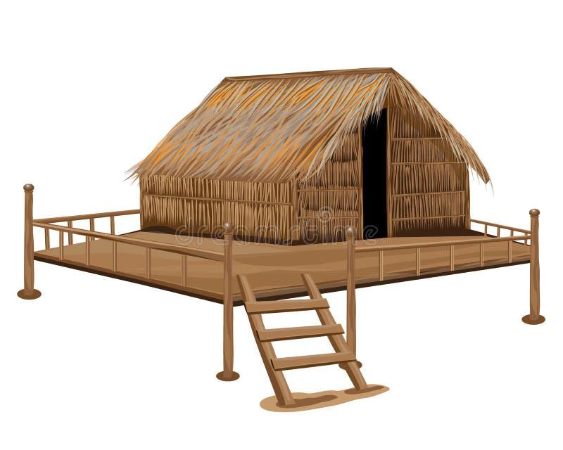 Straw hut. The straw hut vector design stock illustration