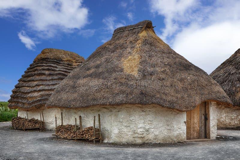 Straw Neolithic Houses fotos de stock