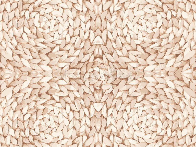 Straw pattern texture repeating seamless. Natural woven straw background. royalty free stock photos