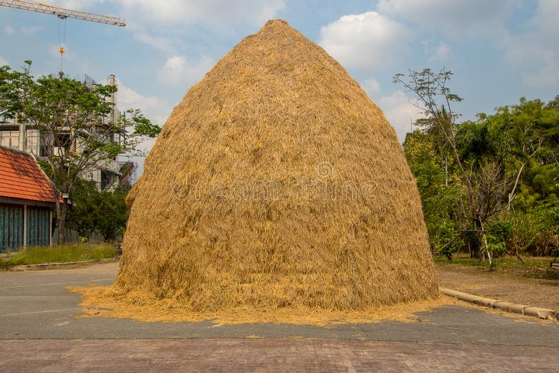 The Straw stack stock photography