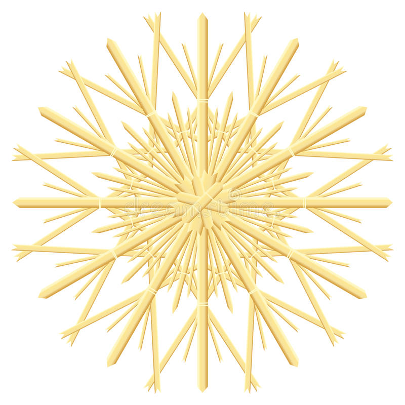Straw Star Christmas Tree Ornament illustration libre de droits