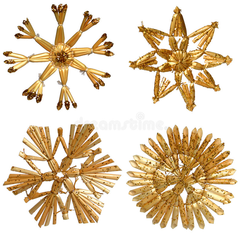 Download Straw Stars stock photo. Image of holiday, ornaments, separated - 243834