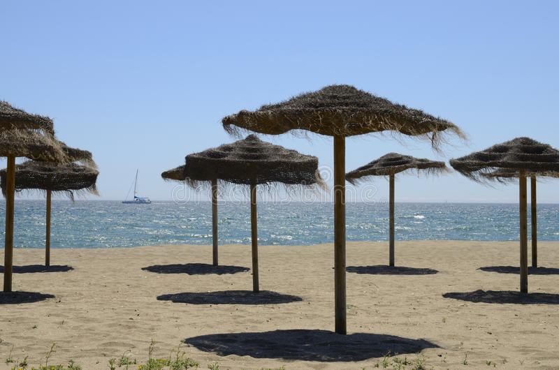 Download Straw umbrellas stock photo. Image of relax, andalusia - 30528816
