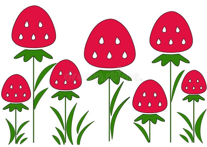 Strawberries royalty free illustration
