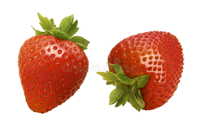 Strawberries. Isolated on a white background. Isolation is on a transparent layer in the PNG format royalty free stock photo