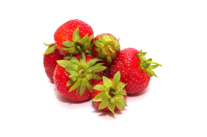 Strawberries. Photo of the Strawberries on white background stock photography
