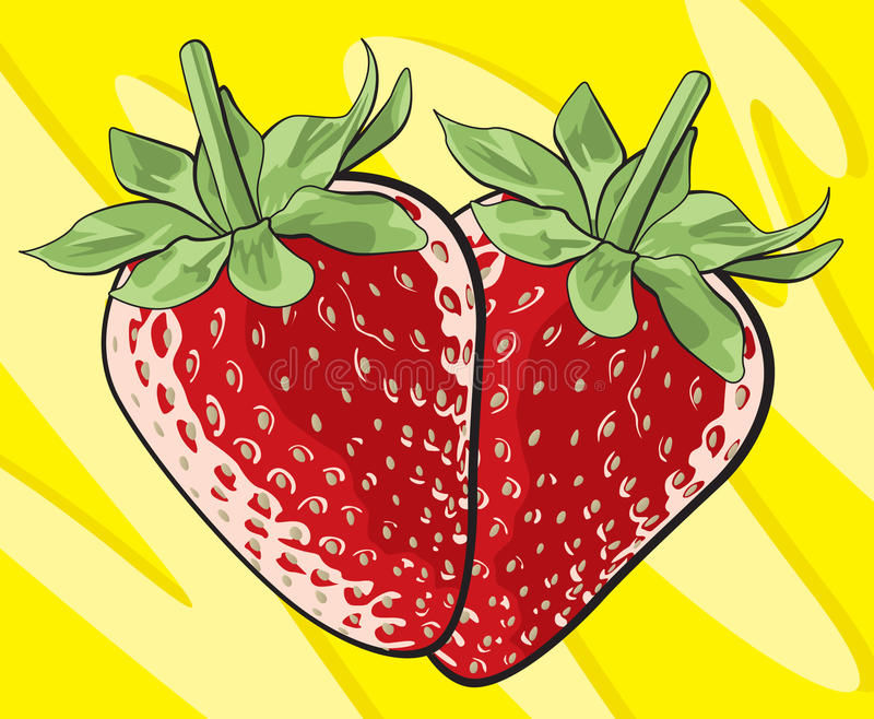 Download Strawberries stock vector. Image of nutritious, berry - 23857061