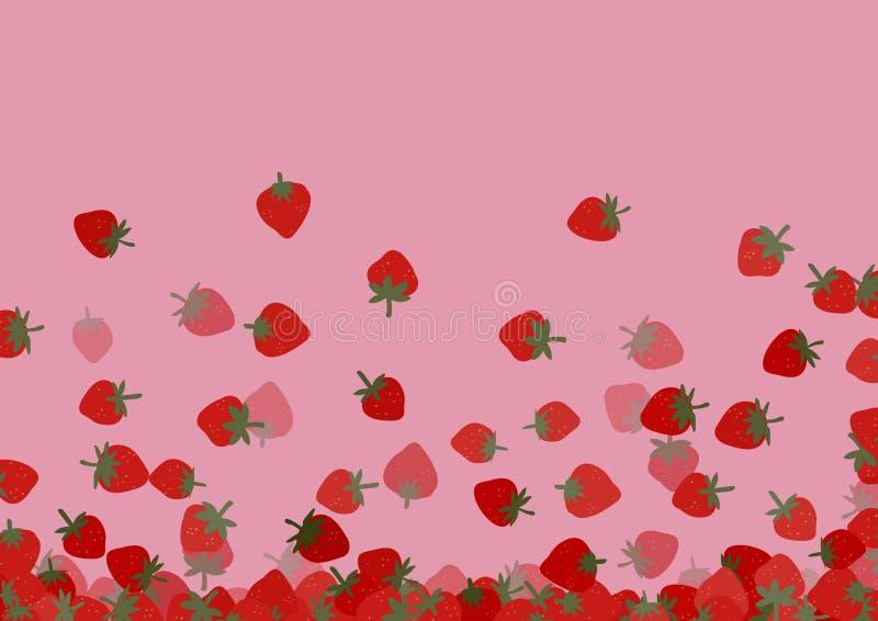 Download Strawberries background stock illustration. Illustration of pink - 35070464