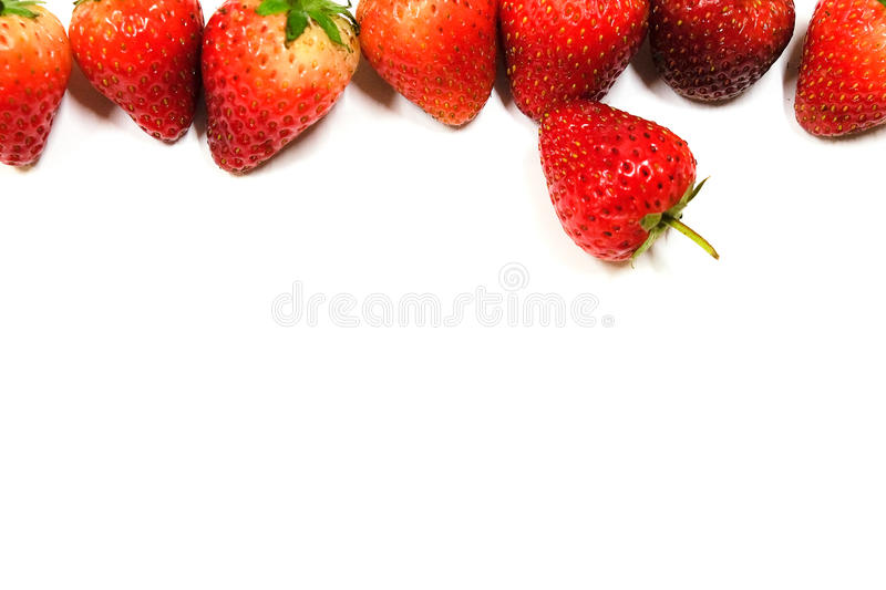 Strawberries background with isolated stock photography
