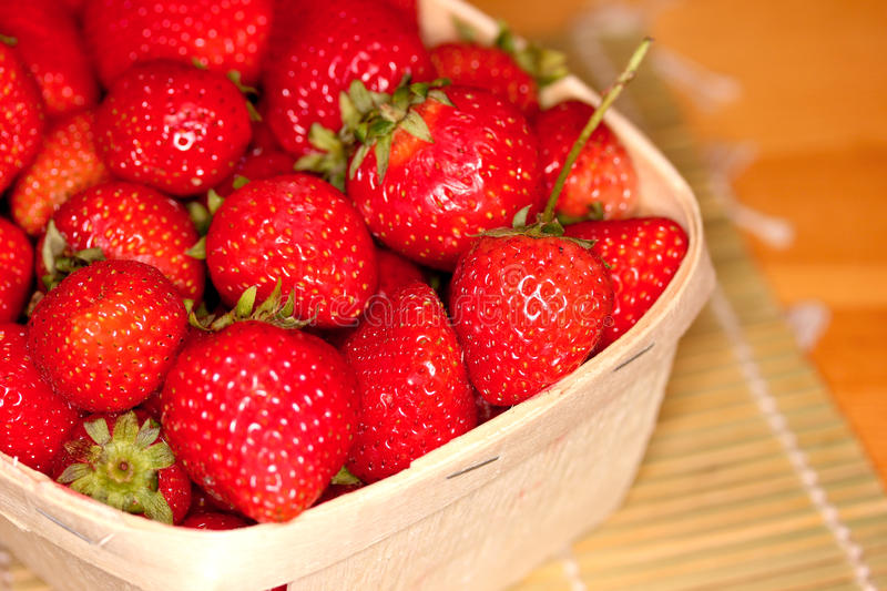 Strawberries in a Basket. royalty free stock photo
