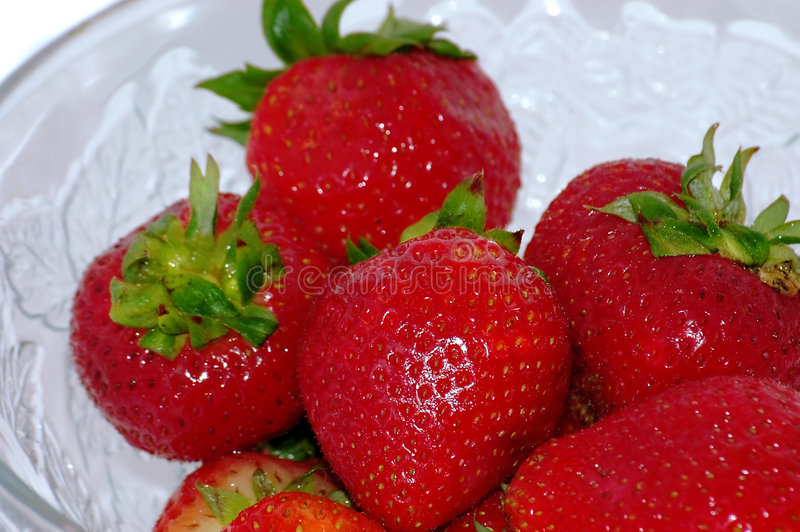 Download Strawberries in the bowl stock image. Image of detail, juice - 182025
