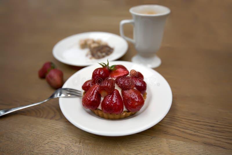 Strawberries cake stock image