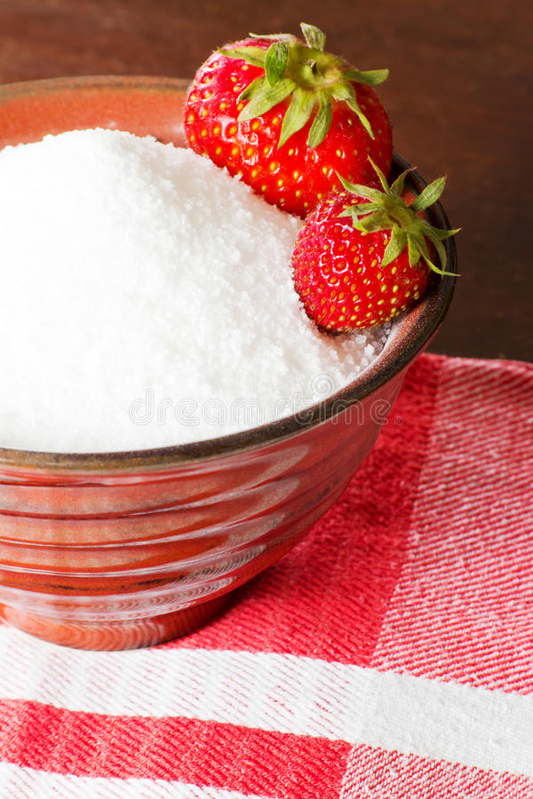 Strawberries In Canning Sugar Royalty Free Stock Photos