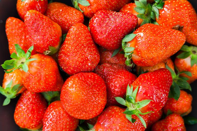 Strawberries - close up shot stock photography