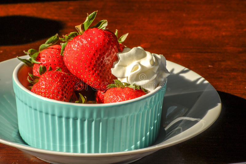 Strawberries and Cream royalty free stock photos