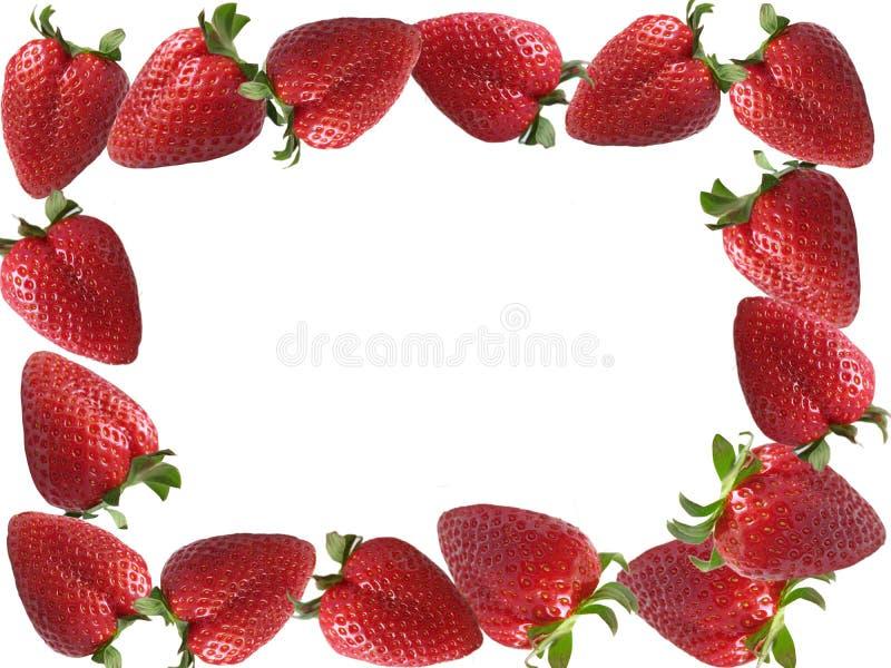 Strawberries frame royalty free stock photo
