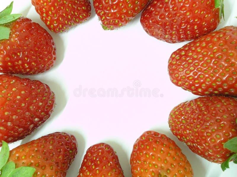 Strawberries frame royalty free stock photos