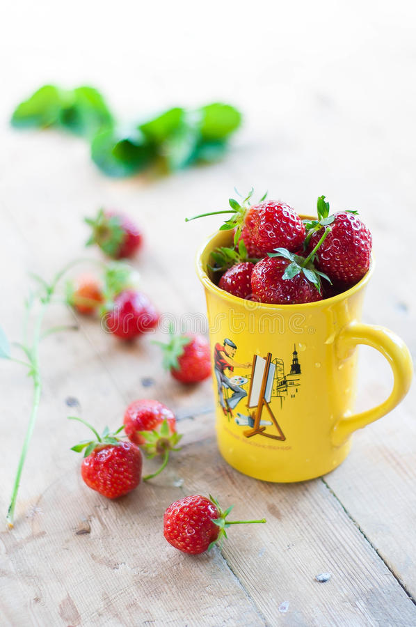 Download Strawberries stock image. Image of summer, focus, yellow - 42132139