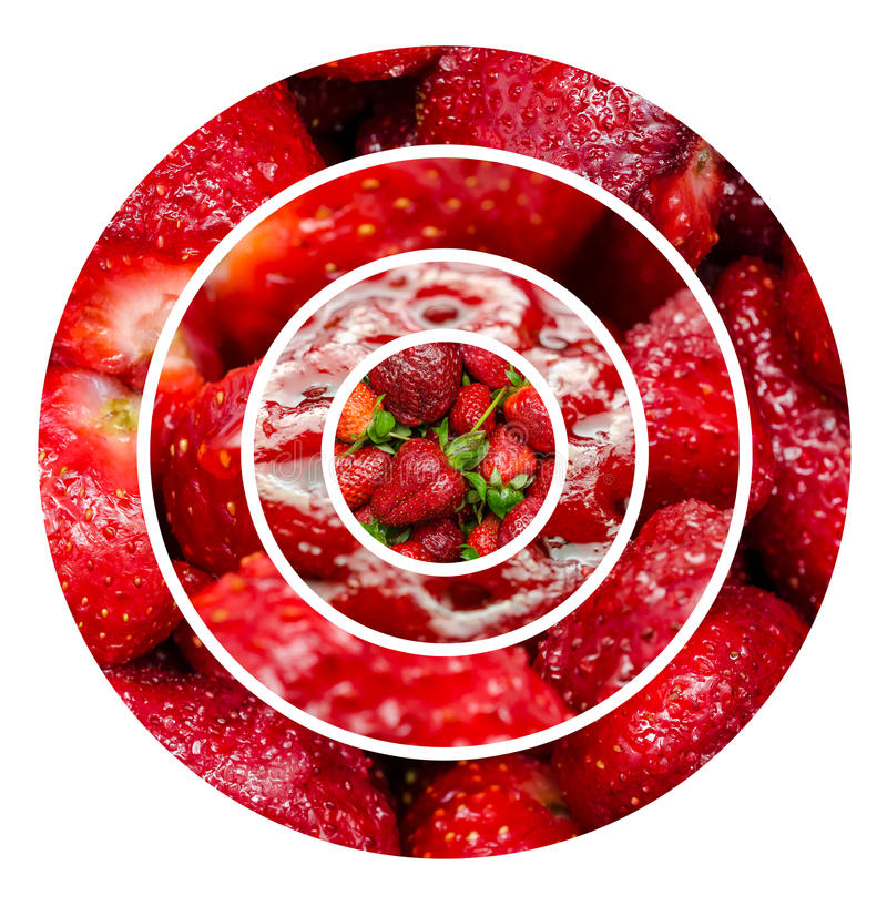 Strawberries Fruits Background royalty free stock photos