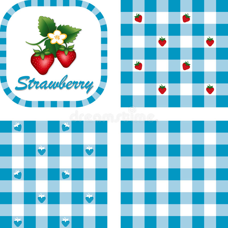 Download Strawberries & Gingham Seamless Patterns Stock Vector - Image: 20354556