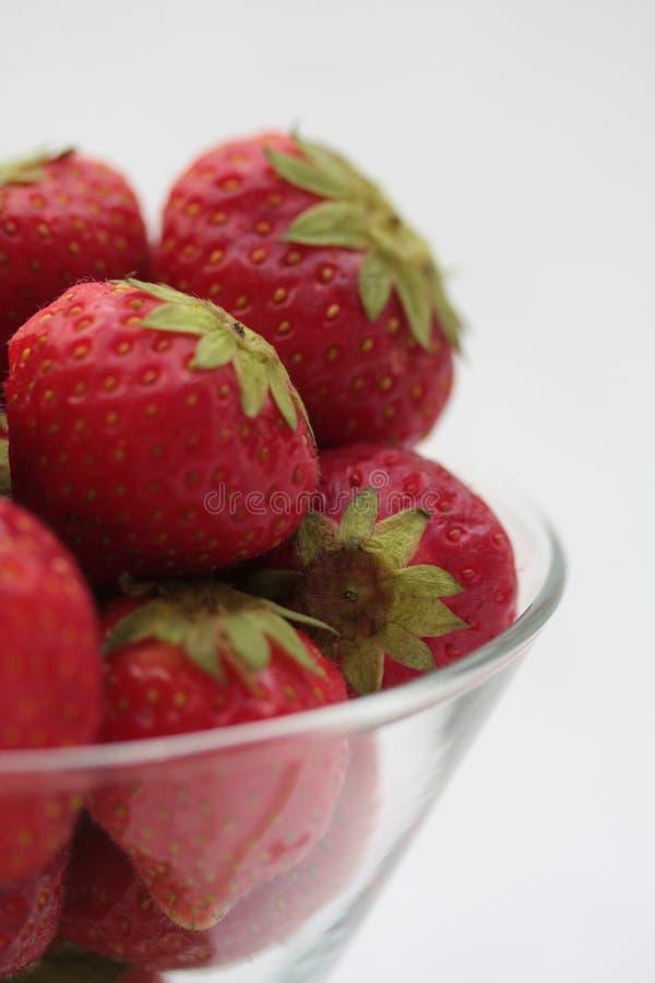 Strawberries in glass stock photo