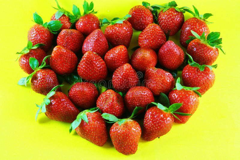 Download Strawberries heart stock photo. Image of leaf, green - 29431252