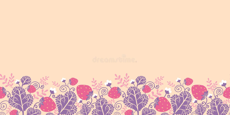 Strawberries horizontal seamless pattern royalty free illustration