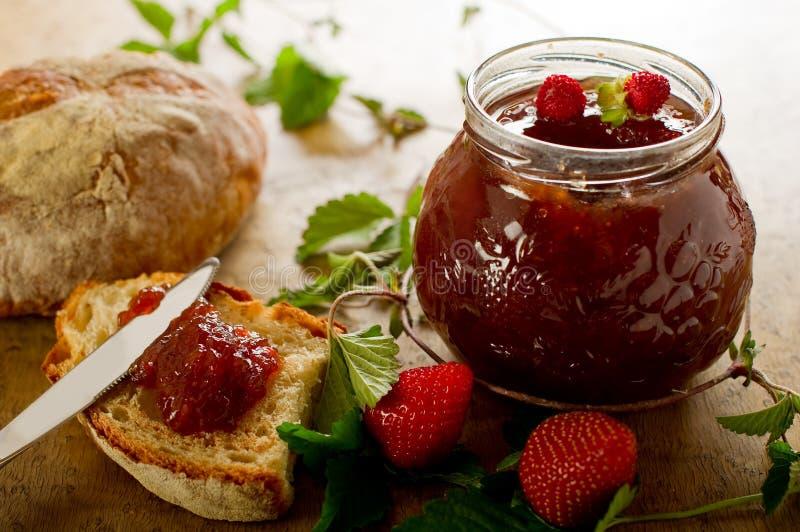 Strawberries jam royalty free stock photography
