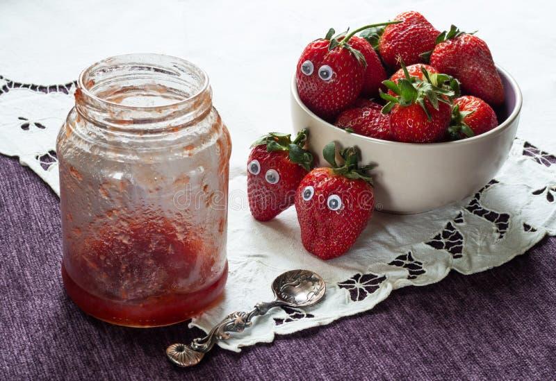 Alarming premonition of strawberries royalty free stock image
