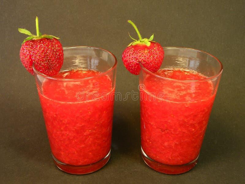 Strawberries juice stock photography