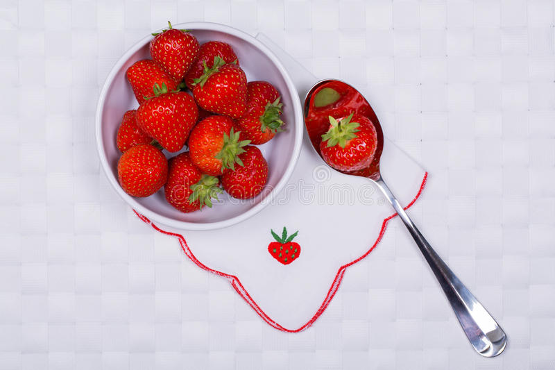 Strawberries with napkin