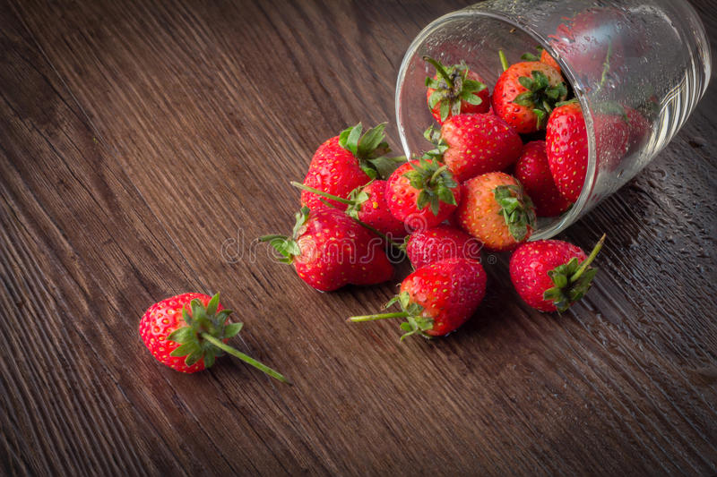 Strawberries in natural background stock photography