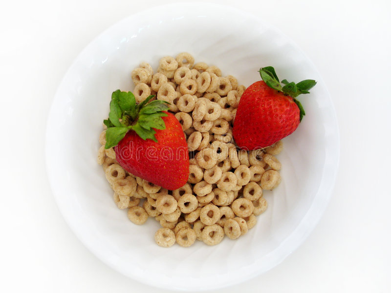 Strawberries and O's royalty free stock photo