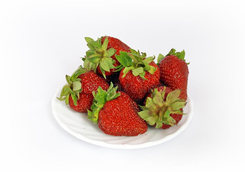 Strawberries On Plate Free Stock Image