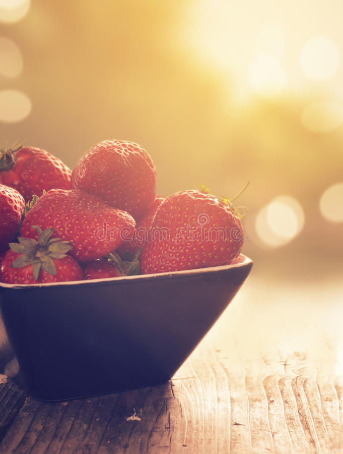 Download Strawberries stock photo. Image of bright, bokeh, garden - 37054240