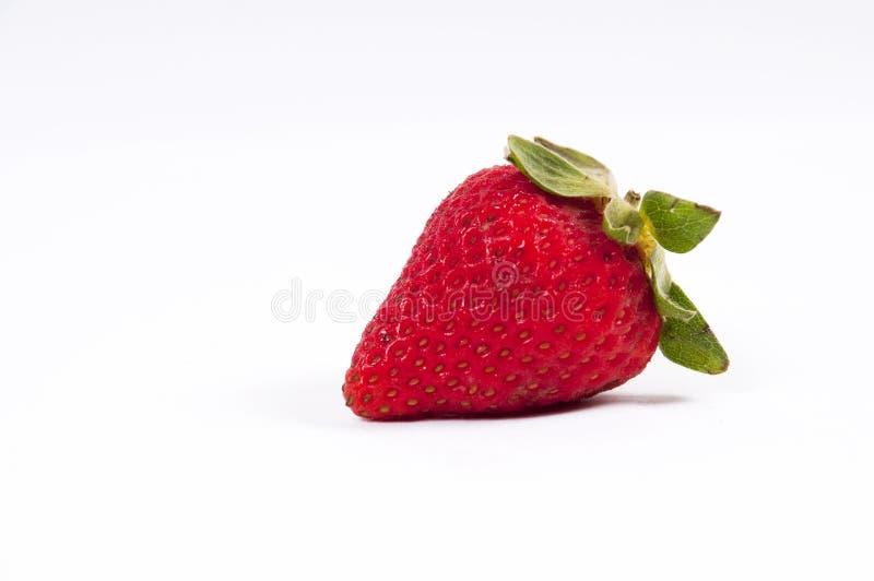 Strawberry 01. One Strawberries on white background stock image