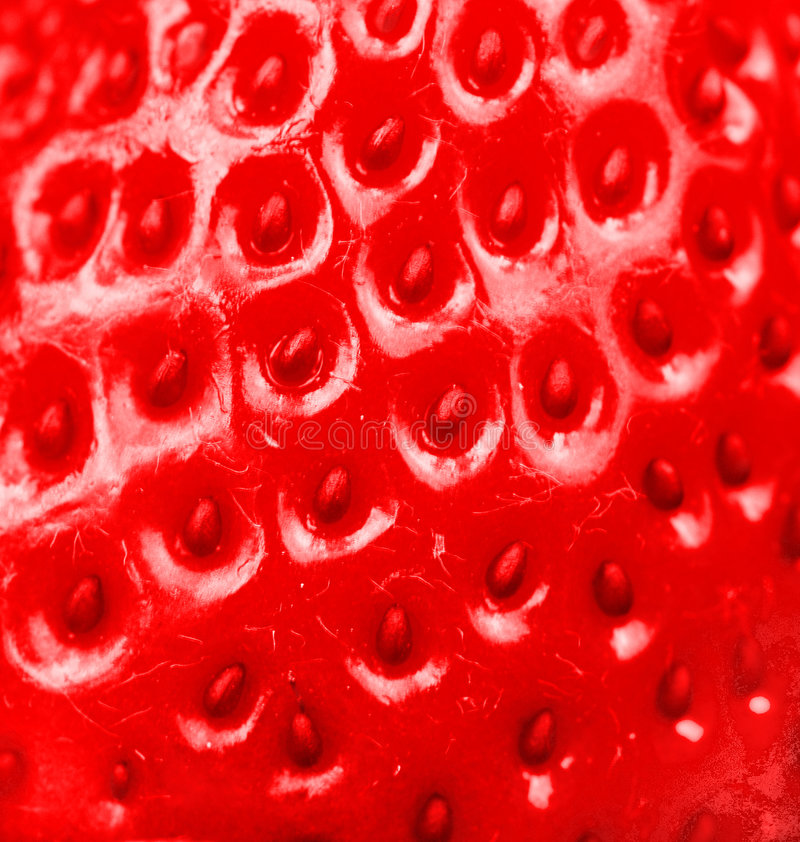 Strawberry. Macro of a strawberry texture
